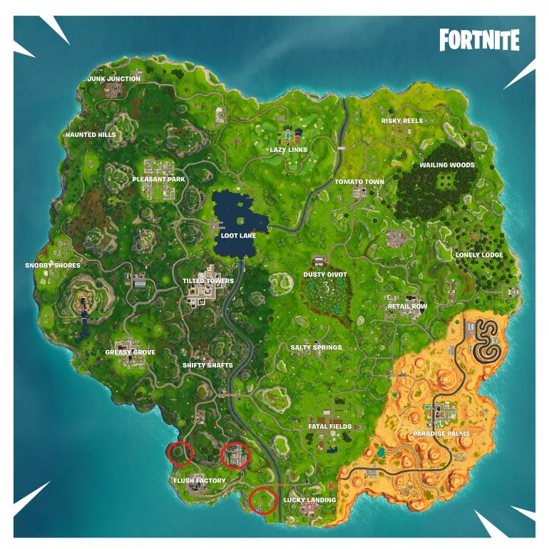 Fortmite Season 5 Week 3 Challenges - Treasure Map location