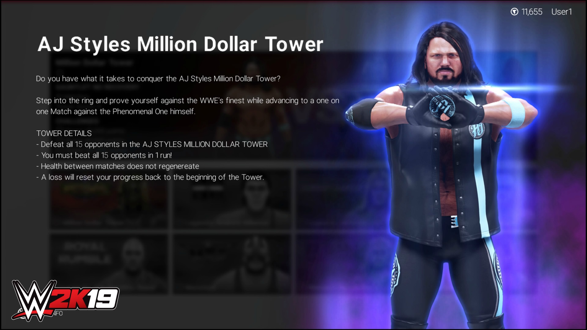 WWE 2K19 Towers Mode