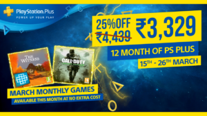PlayStation Plus Offer at 25% Off